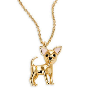 KATE SPADE 12K Gold Plated Chihuahua Necklace